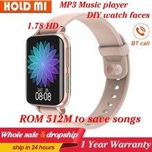 DT93 Smart Uhr BT anruf MP3 player 512M speicher 1,78 zoll 420*485 DIY uhr gesicht Druck Fitness tracker smartwatch