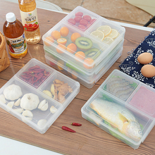 Multi-Grid Transparent Storage Box Creative Snack Vegetable Preservation Organizer Refrigerator Microwave Heat-Resistant Boxes
