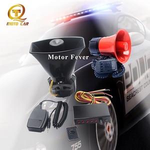 Loud Car Horn Signal 12V Auto Alarm Siren Tone Ambulance Warning Sound Loudspeaker 100W MIC System Vehicle Megaphone Train truck(China)