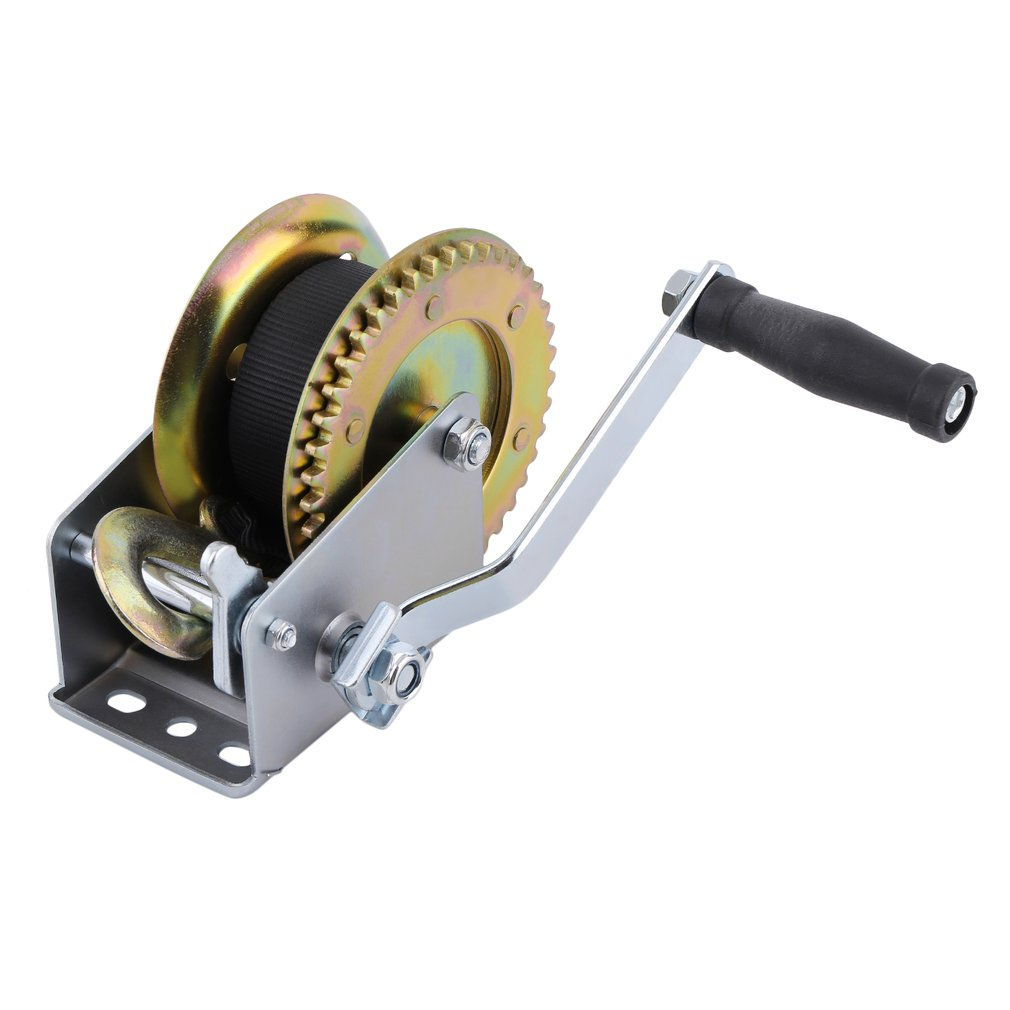 New 1200lbs*6m Heavy Duty  Boat Truck Auto Hand Manual Winch Smooth Action Ratcheting Handle Easy Pulling Lifting Sling Hand Too