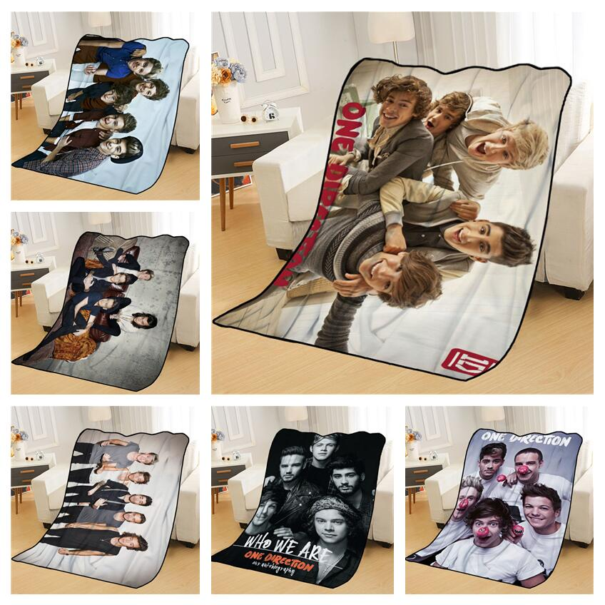 New Arrival One Direction Blankets Printing Soft Nap Blanket On Home/Sofa/Office Portable Travel Cover Blanket-0