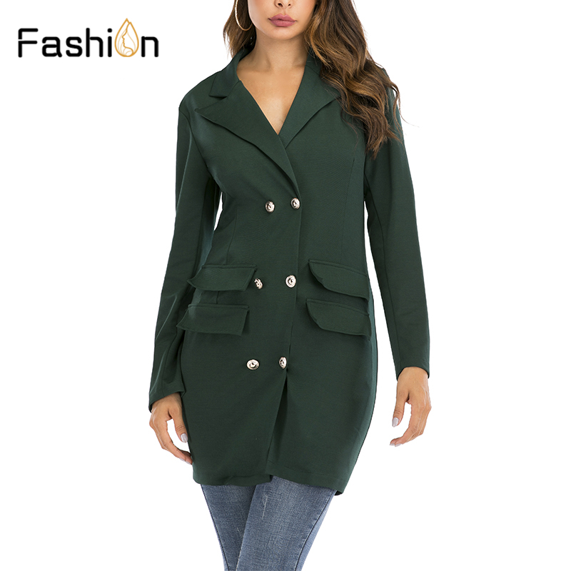 Casual Button Women Blazer Dress Autumn Winter Blazers High Fashion Solid Sexy Blazers Coat Women Blazers And Jackets Suits
