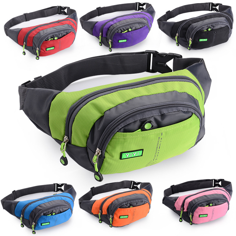 Sports Outdoor Multi-functional Waterproof Waist Bag Men's Women's Large-Volume Money Cash Storage Business Canvas Mobile Phone