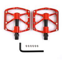 3 Bearings Bicycle Road Mountain Bike Pedals Aluminum Alloy Ultralight Bearings 92*94*17mm|Bicycle Pedal|   -