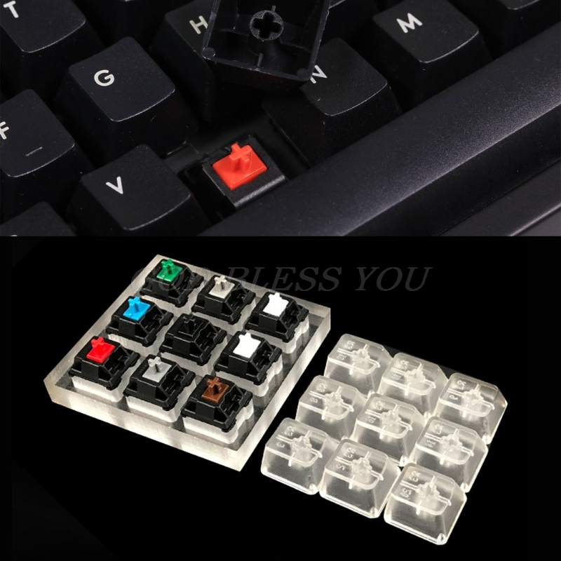 New 9 Cherry MX <font><b>Keyboard</b></font> <font><b>Tester</b></font> <font><b>Mechanical</b></font> <font><b>Keyboard</b></font> Switches 9 Cherry MX <font><b>Keyboard</b></font> <font><b>Tester</b></font> Kit Keycaps Testing Tool Drop Shipping image