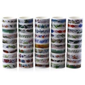 Image 5 - 50 Pcs/Box Washi Tape Decoration Scrapbooking Planner Masking Tape Lot Adhesive Tape Label Sticker Stationery DIY Gift