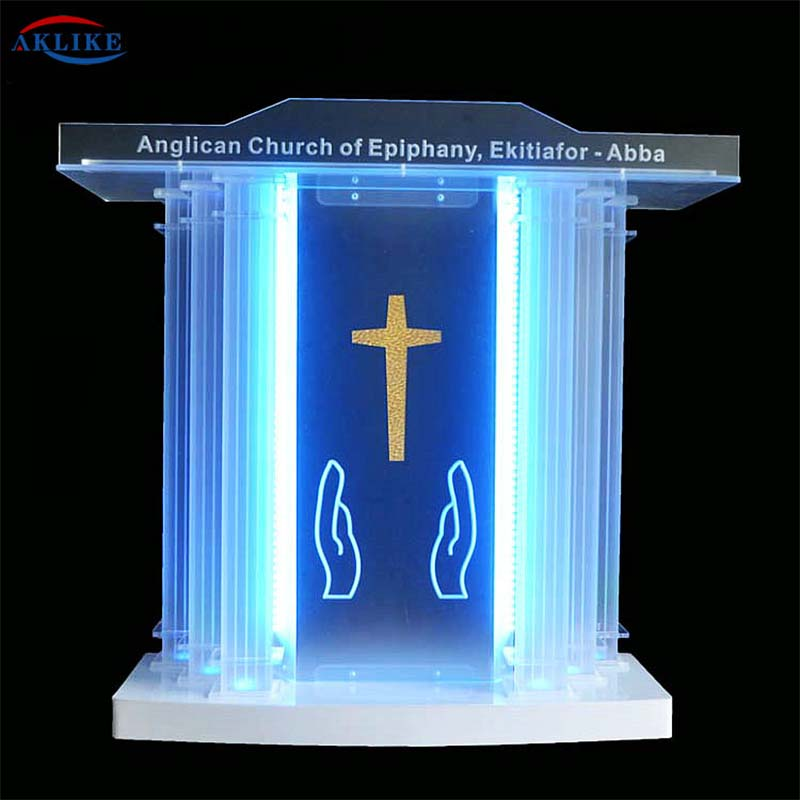 The Oath Church Pulpit Priest Glass Fixture Displays Deluxe AKLIKE  Acrylic Plexiglass Podium Lectern  Furniture -Table Modern