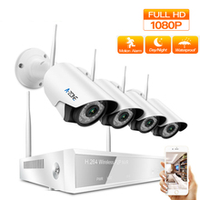 2MP Wireless Home Security Camera Kit 1080P Wifi CCTV Monitoring Camera Security System Indoor Video Surveillance NVR Set