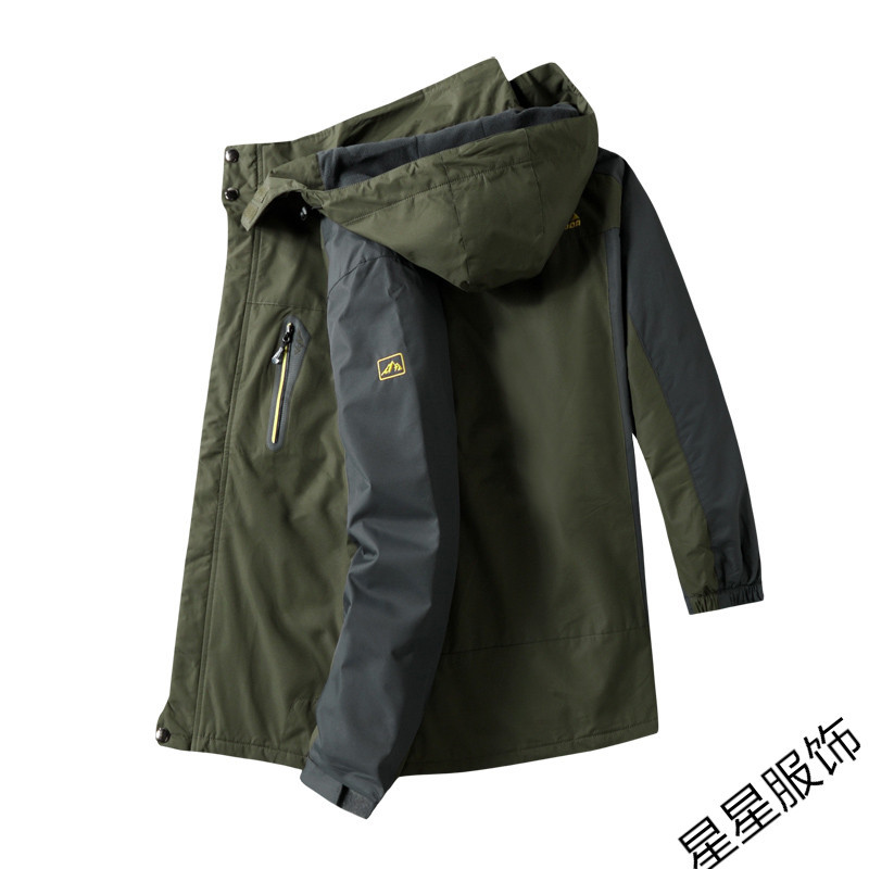10xl 8xl Bomber veste hommes automne épaissir hommes manteau vêtements d'extérieur chauds coupe vent à capuche pardessus Zipper Parkas vestes homme à capuche mâle - 3