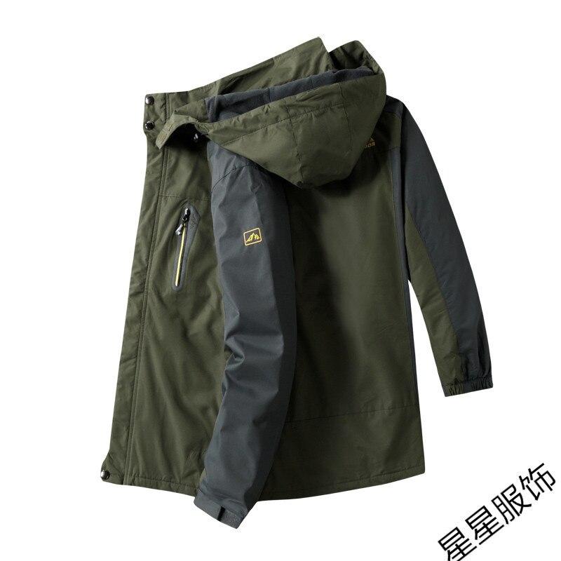 10xl 8xl Куртки мужские осень Утепленная Мужская s теплая куртка ветрозащитное пальто с капюшоном на молнии куртки мужские худи - 3