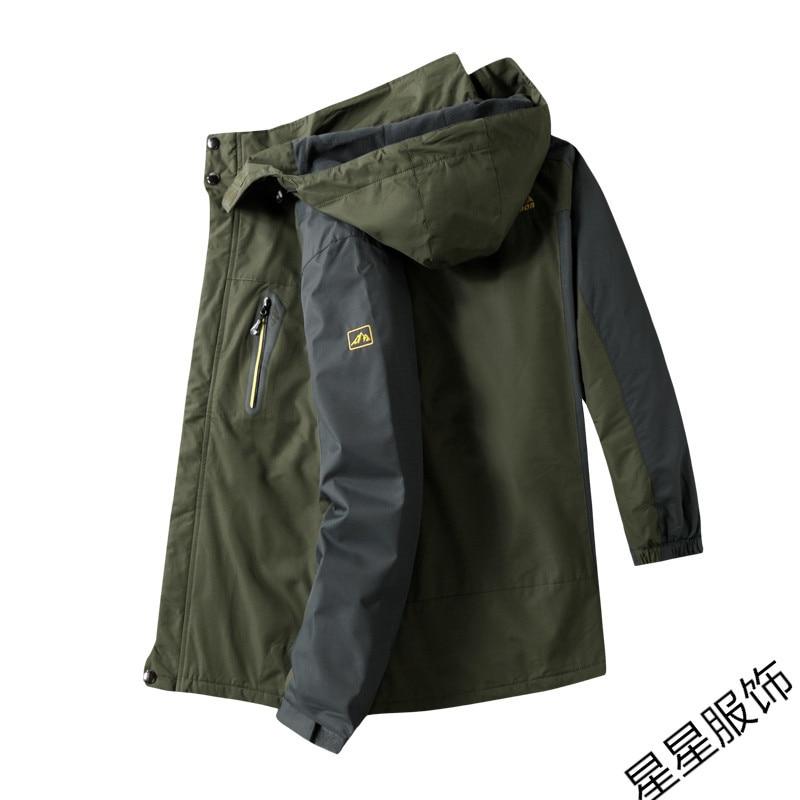 Chaqueta de bombardero 10xl 8xl para hombre de otoño grueso abrigo para hombre Abrigo con capucha a prueba de viento con cremallera Parkas chaquetas para hombre con capucha para hombre - 3