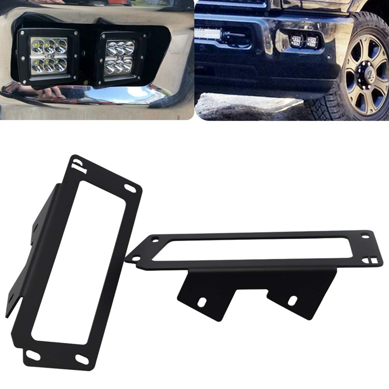 Upgrade-Hidden Bumper Dually Fog Light Location Mounting Brackets For 2009-2012 Ram 1500 And 2010-2019 Dodge Ram 2500 3500
