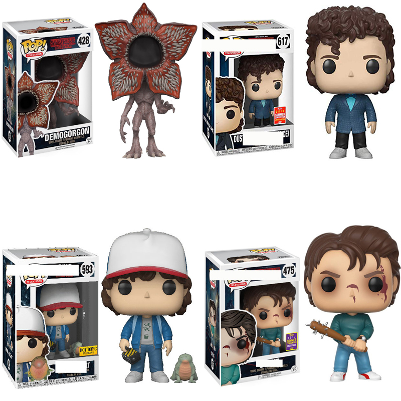 Funko POP Stranger Things Keychain Barb Eleven Demogorgon Collection Action Figures PVC Doll Model Toys For Kids Birthday Gift