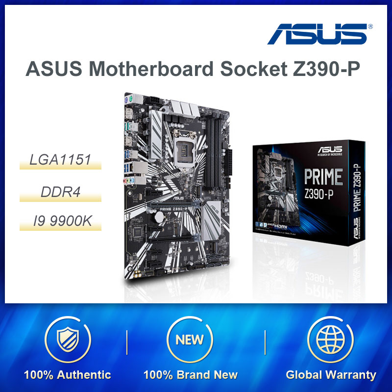 ASUS Motherboard Socket Z390-P LGA1151 NEW DDR4 Desktop Supports I9 9900K 9700 8700K