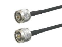 1Pcs RG58 N Spina Maschio a N Maschio Connettore RF Coassiale Cavo di Avviamento Della Treccia Per La Radio Antenna 6 pollici ~ 50M