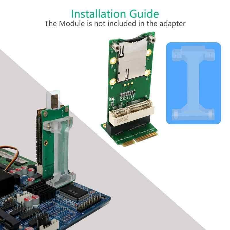 Mini pci express ao cartão do adaptador do conector do sim com o entalhe do cartão do sim para a montagem vertical do módulo de wifi 3g 4g wwan lte gps