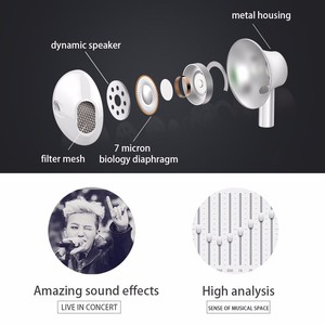Image 3 - Langsdom Metal Earphone Headphones with Mic 3.5MM Wired Stereo Headset Hifi In Ear Earphones for Phone Xiaomi fone de ouvido