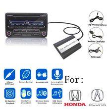 Doxingye usb aux bluetooth rádio do carro cd changer adaptador carro mp3 player música bluetooth handsfree para honda accord civic crv