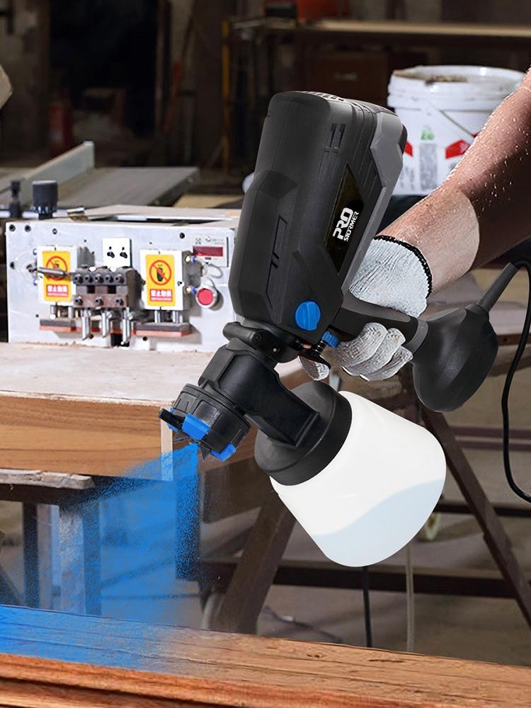 PROSTORMER Household Paint Sprayer Airbrush Electric-Spray-Gun HVLP Flow-Control 4-Nozzle-Sizes
