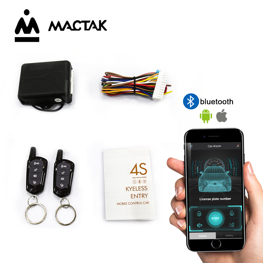 Universal  Auto Remote Central Kit Door Lock Keyless APP With Remote Contr Entry System Central Locking Car Alarm Systems