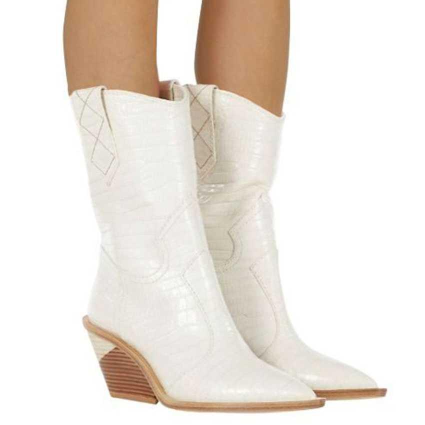 Phụ nữ Mùa Đông của Cổ Chân Giày Đầm Boot Da Phụ Nữ Giày Chelsea Boot Cao Gót Nữ Tuyết Chaussure Punk Bottine 9CM Gót