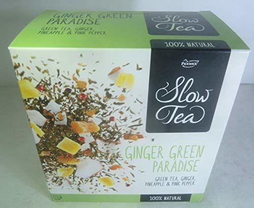 NETHERLANDS PICKWICK SLOW TEA BAG 75g GINGER GREEN PARADISE TEA 100% NATURAL 25 SACHETS,FRESH