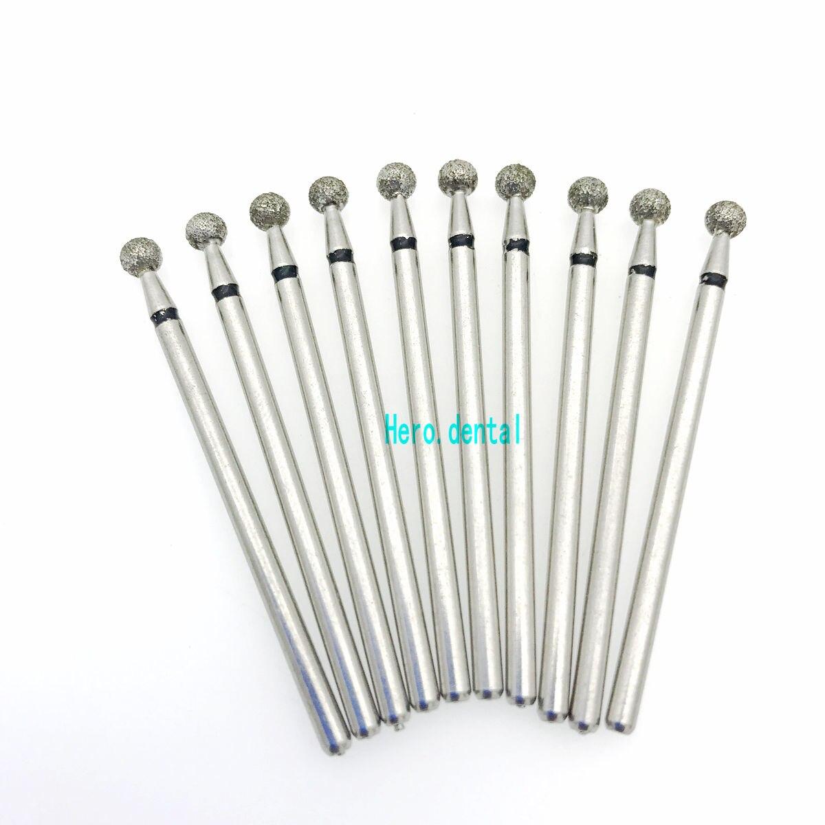 50PCS 1.6mm Carborundum Burs Teeth Polishing Fittings for High Speed Hand Tools