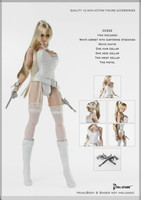 Gothic 1/6 Sexy White CORSET Underwears Collar for Phince Tbleague Verycool Jiaoudoll Action Figure toy