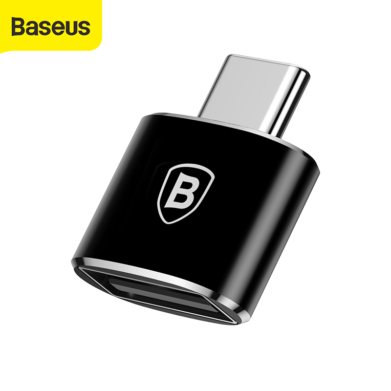 Baseus USB Type C OTG Adapter Converter For Samsung Note 8 S8 For Xiaomi Male To USB Female OTG Converter Charger USB C Cable