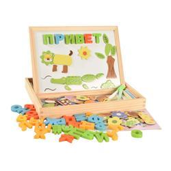 BOHS madera alfabeto ruso letra Animal magnético rompecabezas tablero de dibujo juguetes de aprendizaje y educación pasatiempos para niños