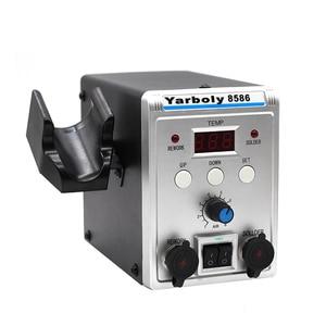 Image 2 - Yarboly 8586 הלחמה תחנת נייד דיגיטלי אוויר חם אקדח BGA עיבוד חוזר הלחמה תחנת האוויר חם מפוח אקדח חום הסרת הלחמה כלי