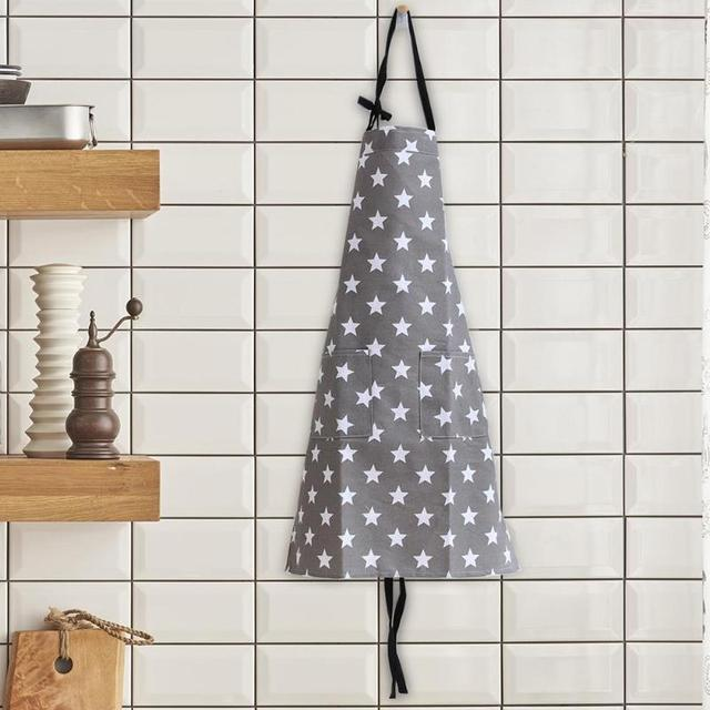 Simple Unisex Apron Kitchen Sleeveless Apron Waterproof Cotton Star Painting Home Kitchen Accessories for Cooking Kitchen 4