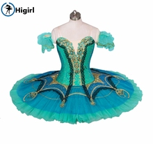 green nutcracker Ballet Tutu child Le Corsaire Gulnara Professional Adult Performance ballet stage costumesBT9029
