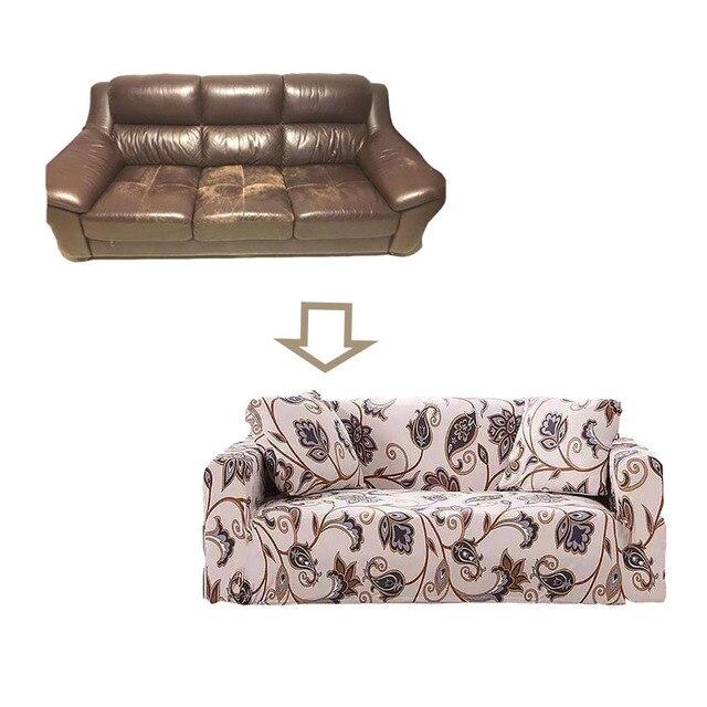 Фото эластичный чехол для дивана гостиной с цветочным принтом много цена