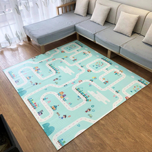 Thickened 1.5cm Play Mat 200*180cm Foldable Cartoon Baby Playmat Children Crawling Pad Puzzle Non-slip Game Pad