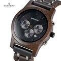 BOBO BIRD relogio masculino мужские часы, наручные часы с хронографом, военные часы, металлический деревянный браслет, роскошные часы, подарок ему, короб...