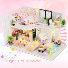 Dollhouse Furnitures Time with Wooden Waiting Toys for Children GRILS Birthday-M035 DIY