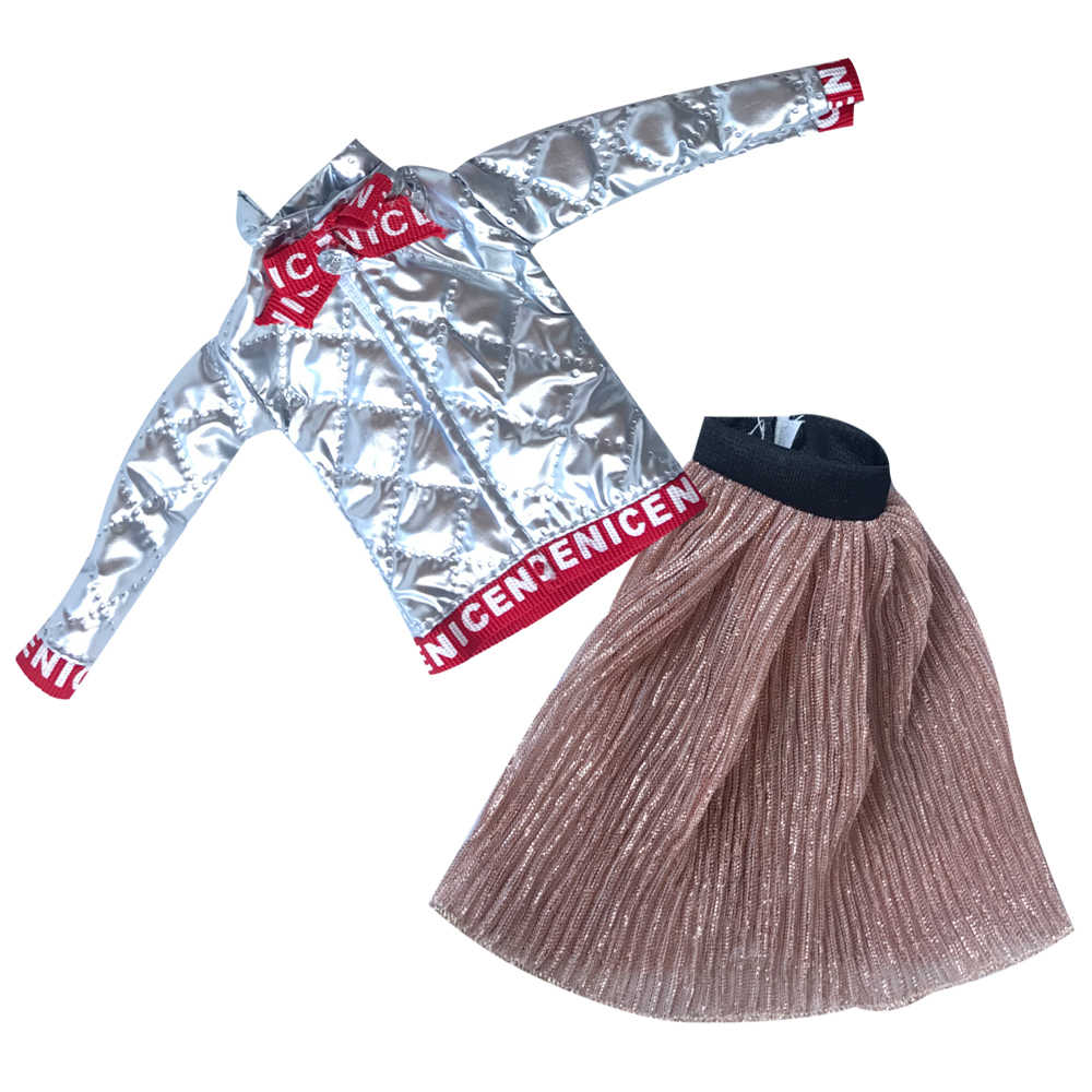 NK1x בובת שמלת יומי מזדמן ללבוש תלבושת מעיל הדפסת שמלת חצאית עבור ברבי בובת אביזרי תינוק צעצועי ילדה של מתנה 04F 5X