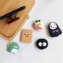 Cartoon Cat Mouse Egg Rotatable Silicone Phone Socket Smartphones Fold Pocket Socket Desktop Stand Bracket Phone Stand Holder(China)