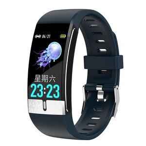 E66 akıllı saat ekg sıcaklık ölçüm kalp hızı kan basıncı oksijen bileklik sağlık spor bilezik Band PK T1
