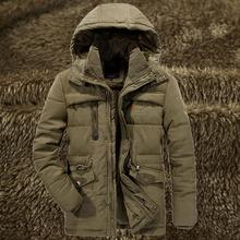 Męskie zimowe ciepłe futro z polaru kurtka Plus rozmiar 5XL 6XL 7XL 8XL zagęścić bawełny wyściełane Parka mężczyzna z kapturem wiatrówka armia płaszcz tanie tanio Z PEILOW Grube Regularne Stojak Hat odpinany Na co dzień Bawełna Poliester Zamek Zamki Stałe Rib rękawem Kurtka zimowa męska