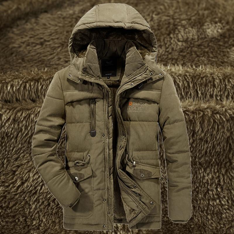 Mens Winter Warm Fur Fleece Jacket Plus Size 5XL 6XL 7XL 8XL Thicken Cotton Padded Parka Male Hooded Windbreaker Army Coat