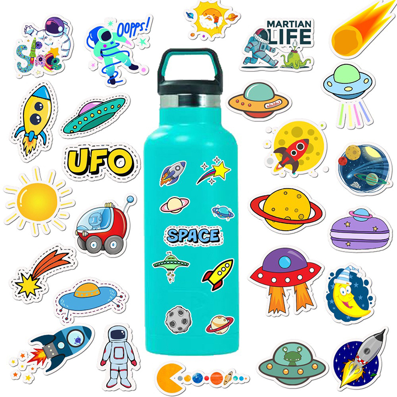 50pcs Waterproof Stickers For Hydro Flask Stainless Steel Water Bottle Cute Cartoon Girls DIY VSCO Stickers Decal For Laptop