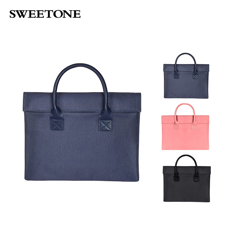 WaterProof Laptop Bag Hand For Women Pc Macbook Case Laptop Sleeve Notebook Bag Laptop Cover 13 14 15 Inch Sony Dell Lenovo HP