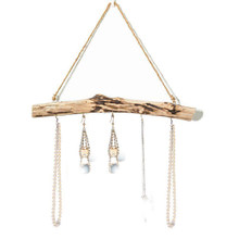 Rack Decor Hanging Living Room Wooden Hanger Earrings Jewelry Organizer Holder Wall Mount Display Household Necklace Multi Hook(China)
