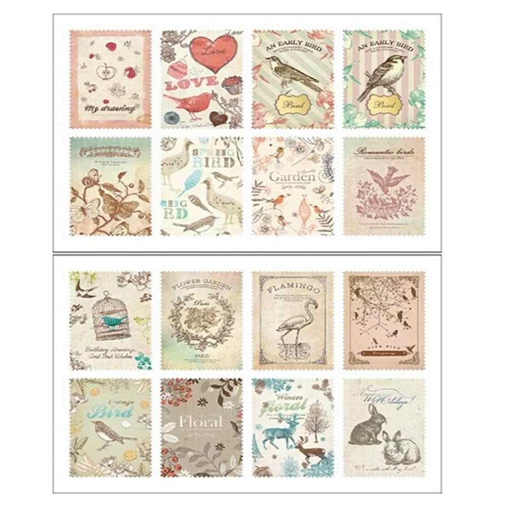 2 Lenzuola Carta Stamp Sticker Memo Adesivi Fai da Te Diario Album Scrapbooking Sigillo Della Busta Cancelleria Del Giocattolo per I Bambini
