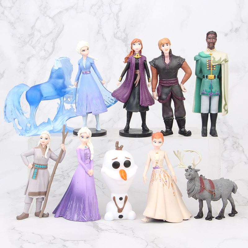 New Disney Frozen 2 Snow Queen Elsa Anna PVC Action Figure Olaf Kristoff Sven Anime Dolls Figurines Toys For Kids Birthday Gifts