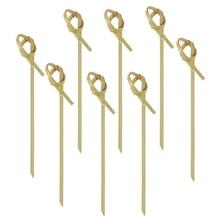 100 шт бамбуковые прослойки в узел шампуры полезные палочки для коктейля из бамбука узел выбирает фрукты выбирает на ужин Вечерние Коктейльные Вечерние барбекю