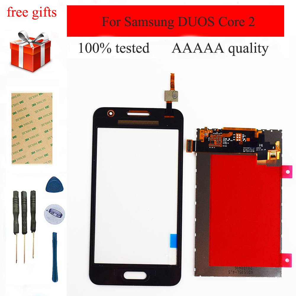 For Samsung DUOS Core 2 SM-<font><b>G355H</b></font> G355M <font><b>G355H</b></font> G355 LCD <font><b>Display</b></font> Panel Module Monitor + Touch Screen Digitizer Sensor Glass image