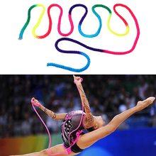 Радужный цвет Ритмическая гимнастика веревка твердый соревнование